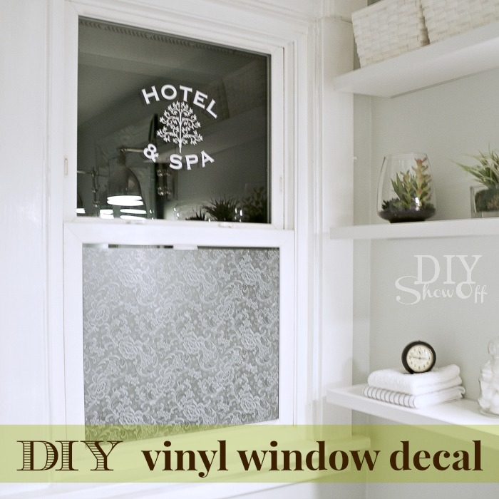 DIY vinyl window decal tutorial at diyshowoff.com