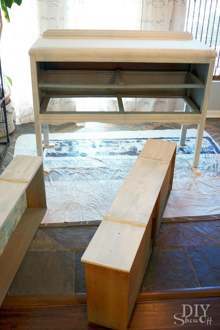 Dresser Makeover furniture paint tutorial