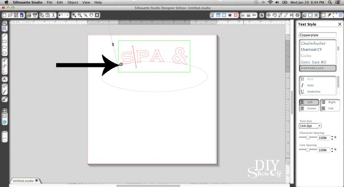 Silhouette curved text tutorial