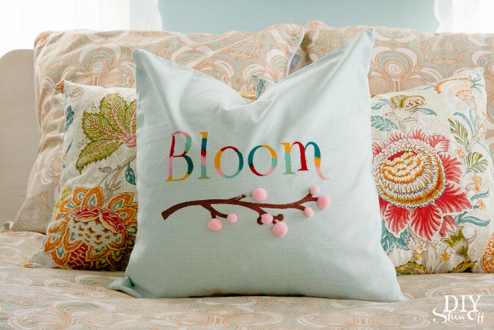 Spring Bloom Pillow Cover DIY Show Off