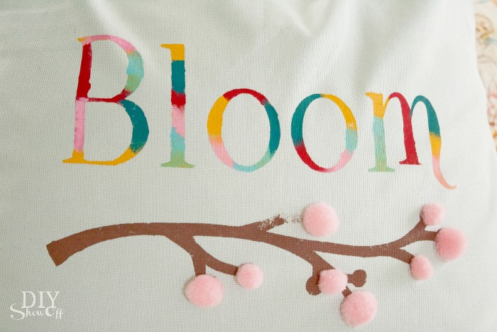 Spring bloom pillow cover tutorial