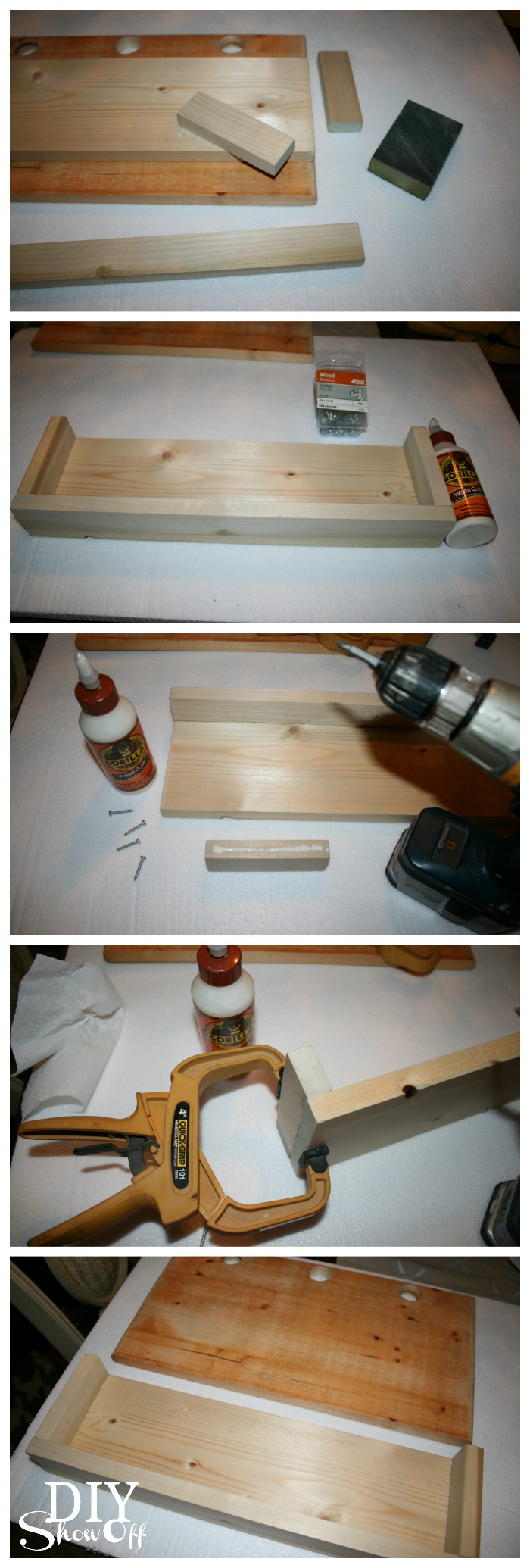 DIY peg hook caddy tutorial
