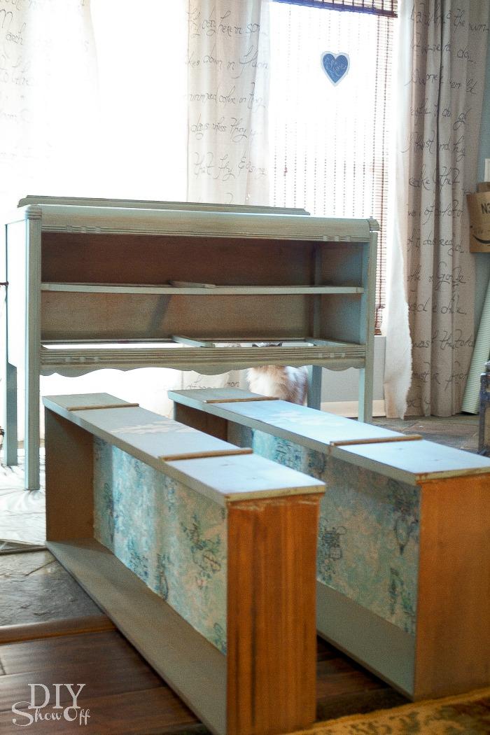 painted dresser prep