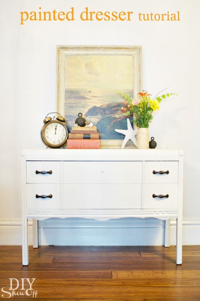 painted dresser tutorial at diyshowoff.com