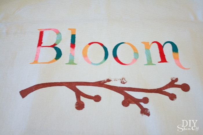 painted spring pillow cover