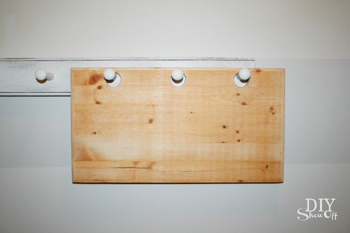 DIY peg hook caddy tutorial