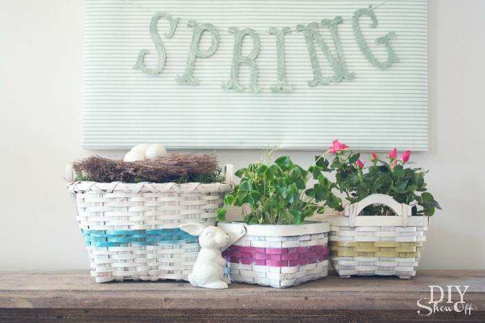 spray painted basket collection