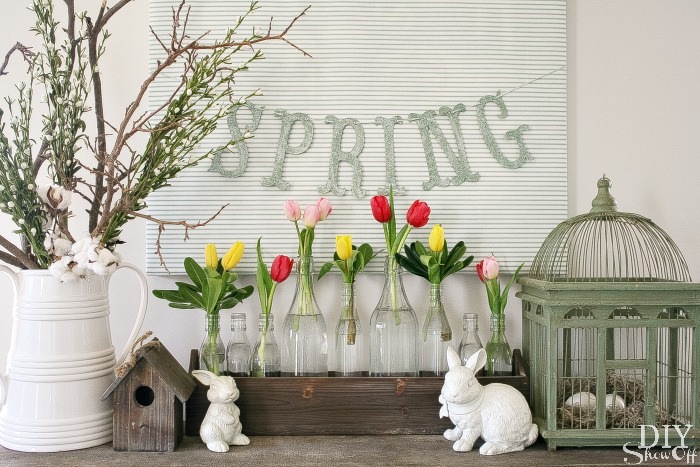 Spring Mantel Decorating - DIY Show Off ™ - DIY Decorating and ...