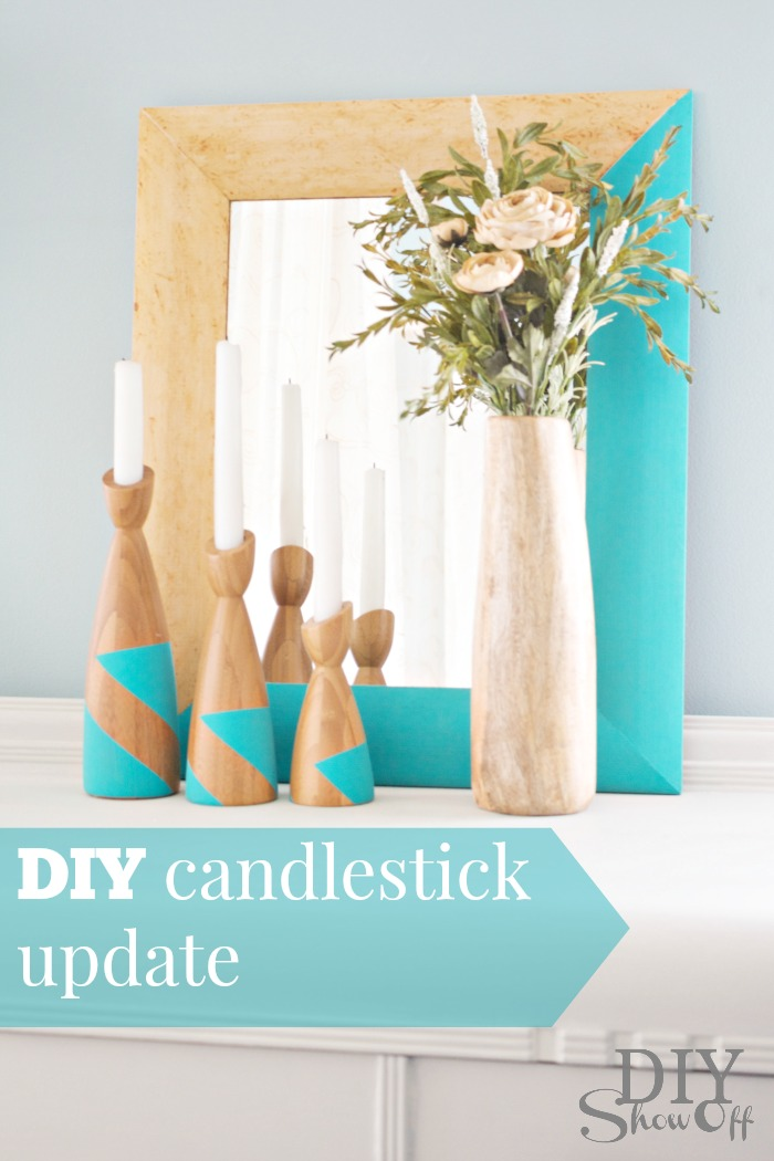 DIY candlestick update at diyshowoff.com