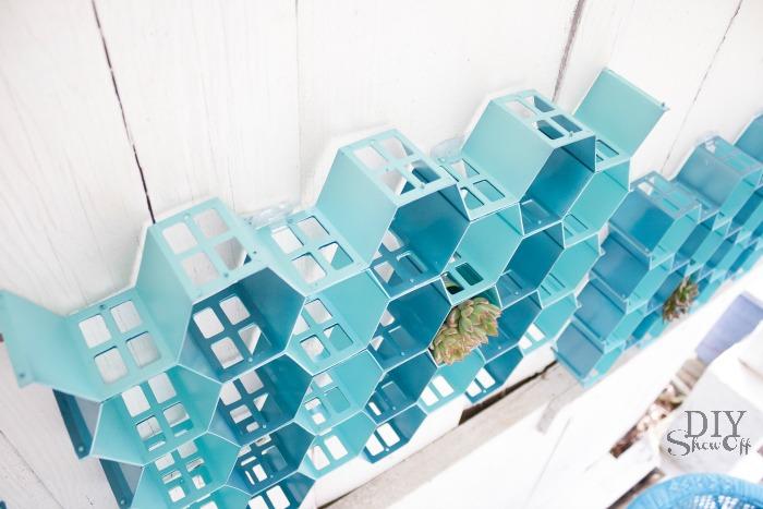 DIY hexagon wall art tutorial at diyshowoff.com