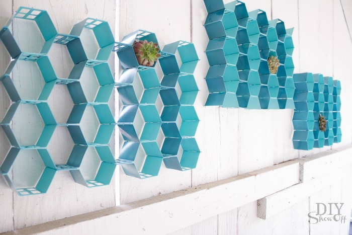 DIY honeycomb wall art at diyshowoff.com