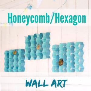 DIY outdoor hexagon patio wall art at diyshowoff.com