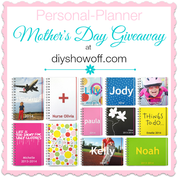 DIYShowOff Personal Planner Giveaway