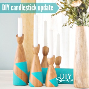 DIY candlestick update at diyshowoff.com