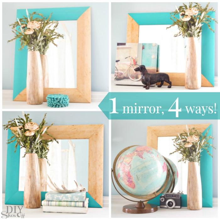 One mirror, four ways at diyshowoff.com