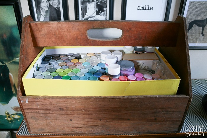 craft paint storage at diyshowoff.com