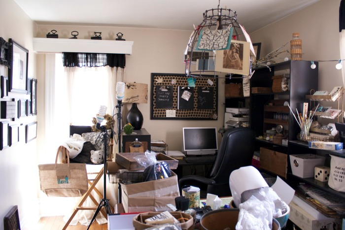 craft room mess before
