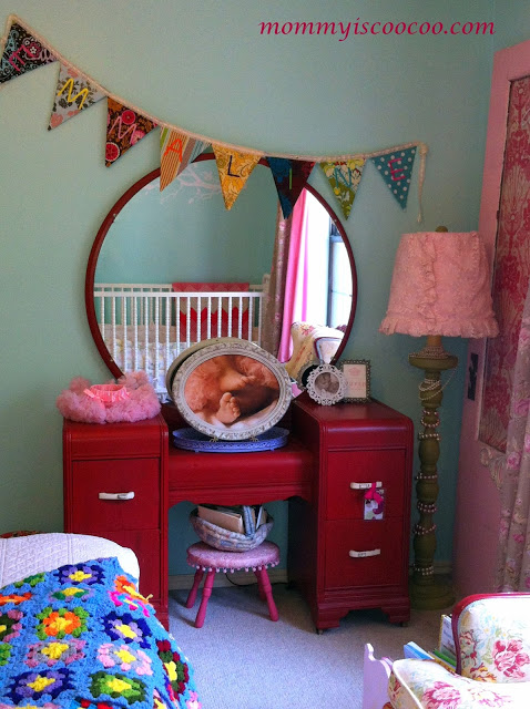 cutest girls room makeover at Mommy is CooCoo
