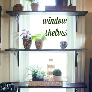 diy window plant shelves at diyshowoff.com