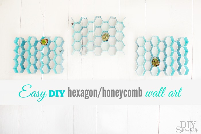 easy DIY hexagon wall art at diyshowoff.com