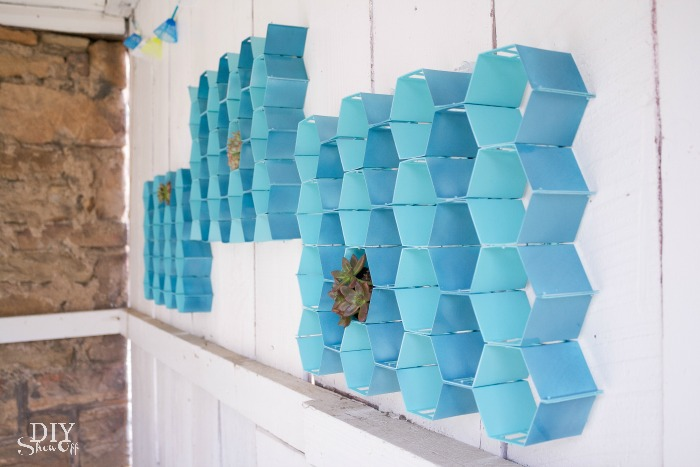 honeycomb wall art tutorial at diyshowoff.com