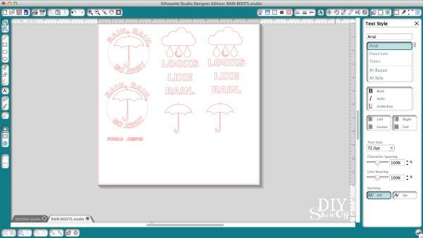 DIY rainboots vinyl decal design tutorial at diyshowoff.com