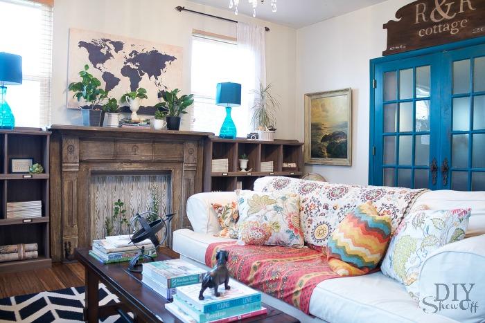 urban classic family room at diyshowoff.com
