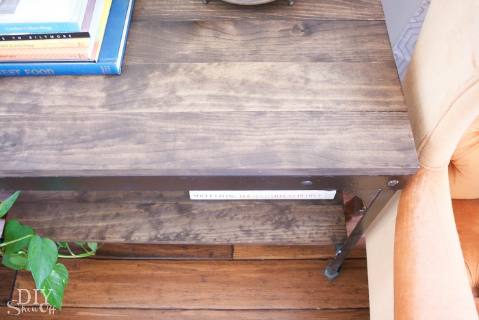 wood plank cart makeover at diyshowoff.com