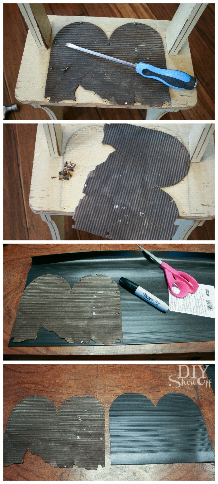 replacing step stool tread
