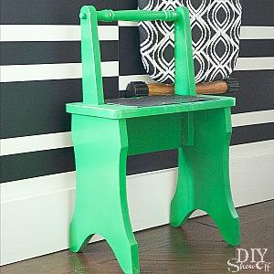 vintage step stool makeover