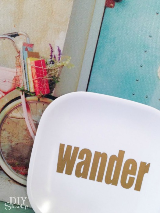 wander vinyl decal plate tutorial at diyshowoff.com