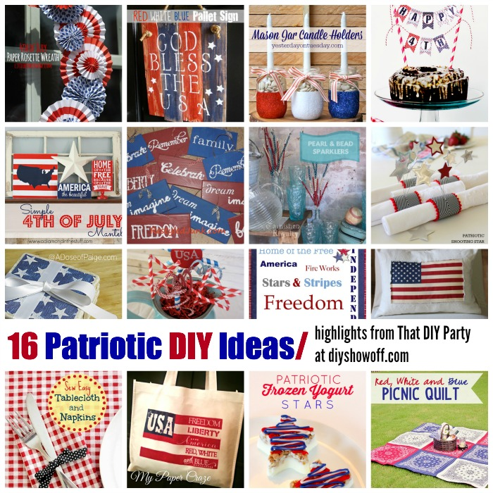 16 Patriotic 4th of July DIY highlights from That DIY Party at diyshowoff.com