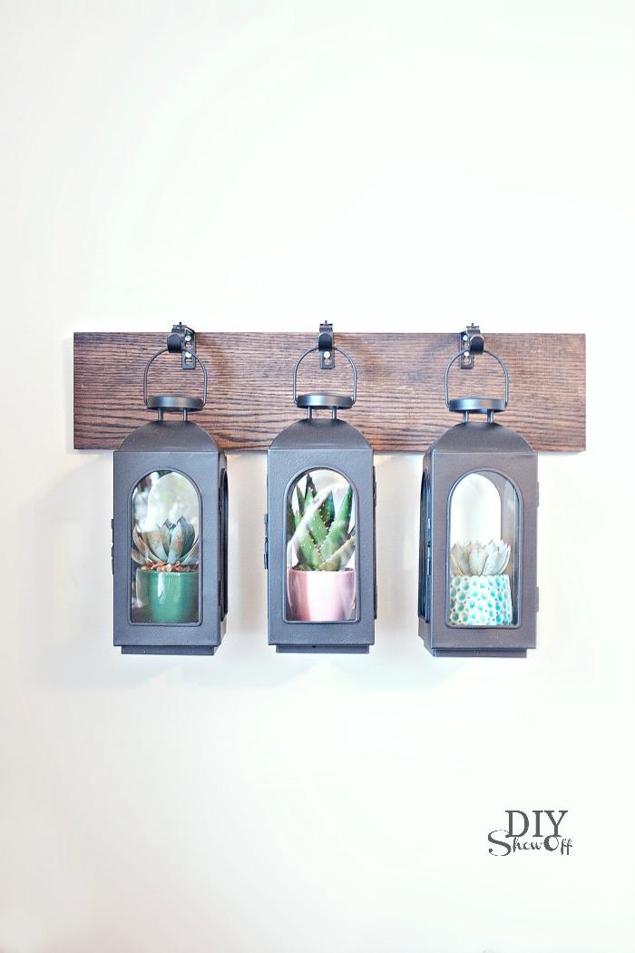 DIY wall mounted hanging lantern tutorial at diyshowoff.com