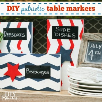 DIY patriotic table markers - diyshowoff.com