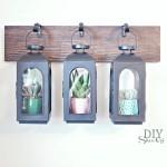 DIY wall mounted lantern greenhouse tutorial at diyshowoff.com