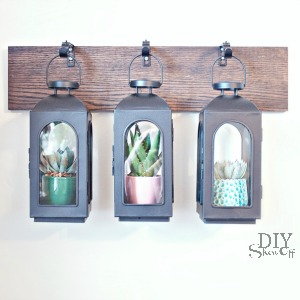 DIY wall mounted lantern greenhouse tutorial at diyshowoff.com