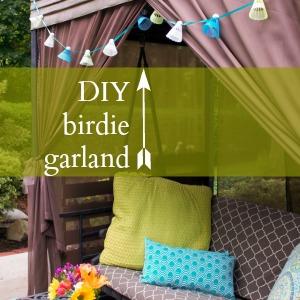 DIYShowoff tutorial badminton birdie garland