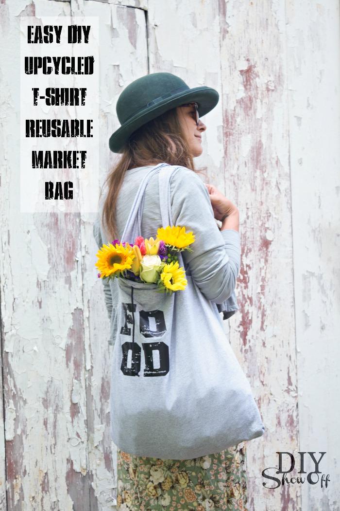Upcycled t shirt tote bag diy show off diy for Reusable t shirt bags