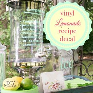 lemonade recipe vinyl decal at diyshowoff.com