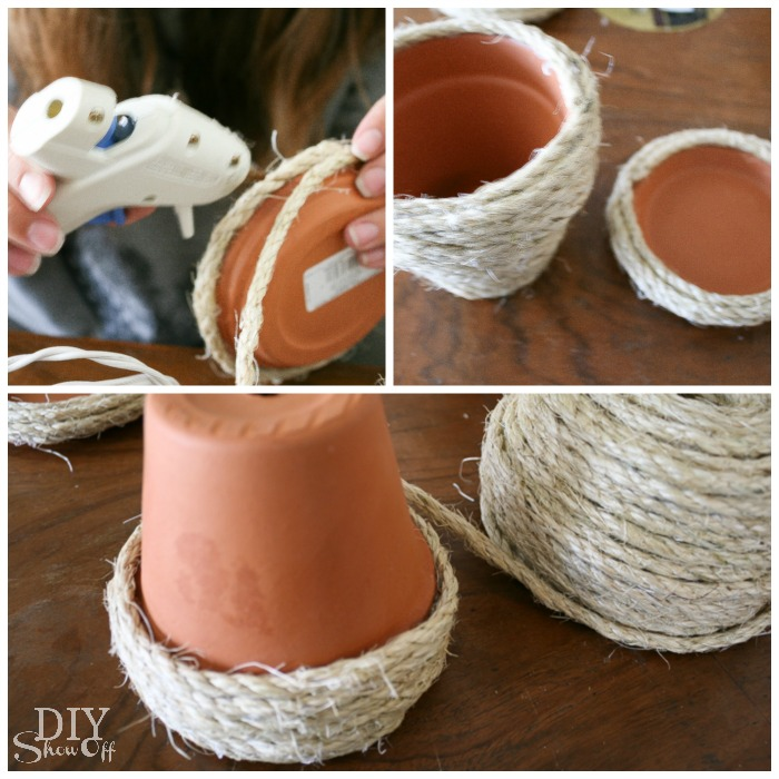 DIY Sisal Rope Planters