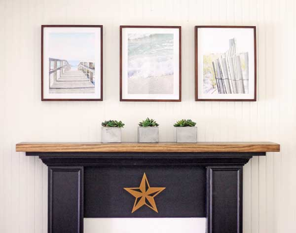 summer-mantel at The Shabby Creek Cottage