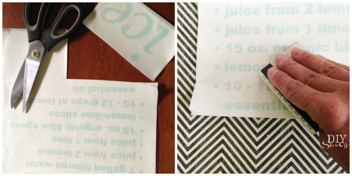 lemonade /beverage vinyl label tutorial at diyshowoff.com