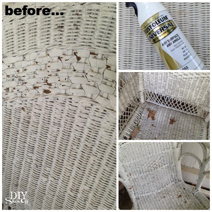 wicker furniture refresh at diyshowoff.com
