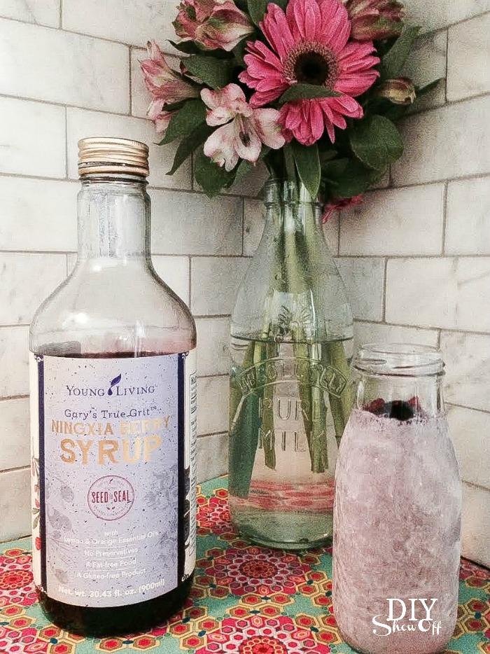 Ningxia berry syrup smoothie recipe at diyshowoff.com