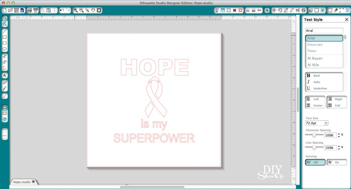 pink glitter iron on - hope is my superpower breast cancer shirt