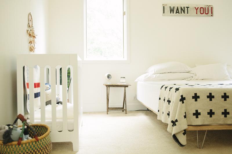 nursery corner at Bleubird Blog
