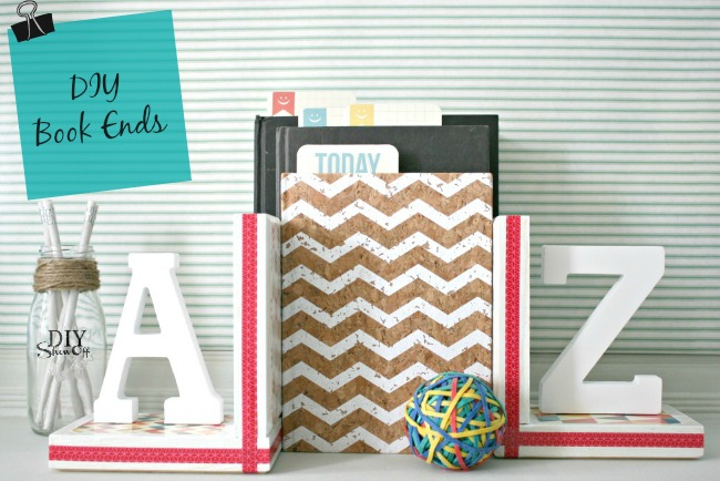 DIY Show Off back to school book ends tutorial