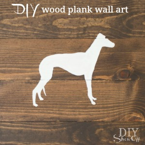 DIY wood plank wall art - DIYShowOff