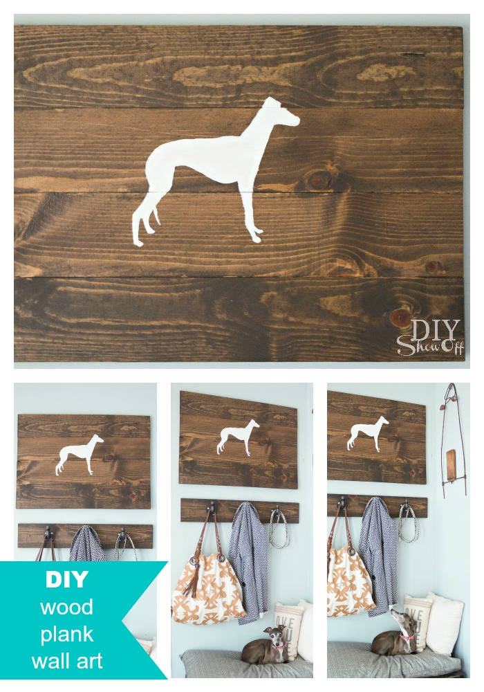 Silhouette Scrap Wood Wall Art - DIY Show Off ™ - DIY Decorating and ...