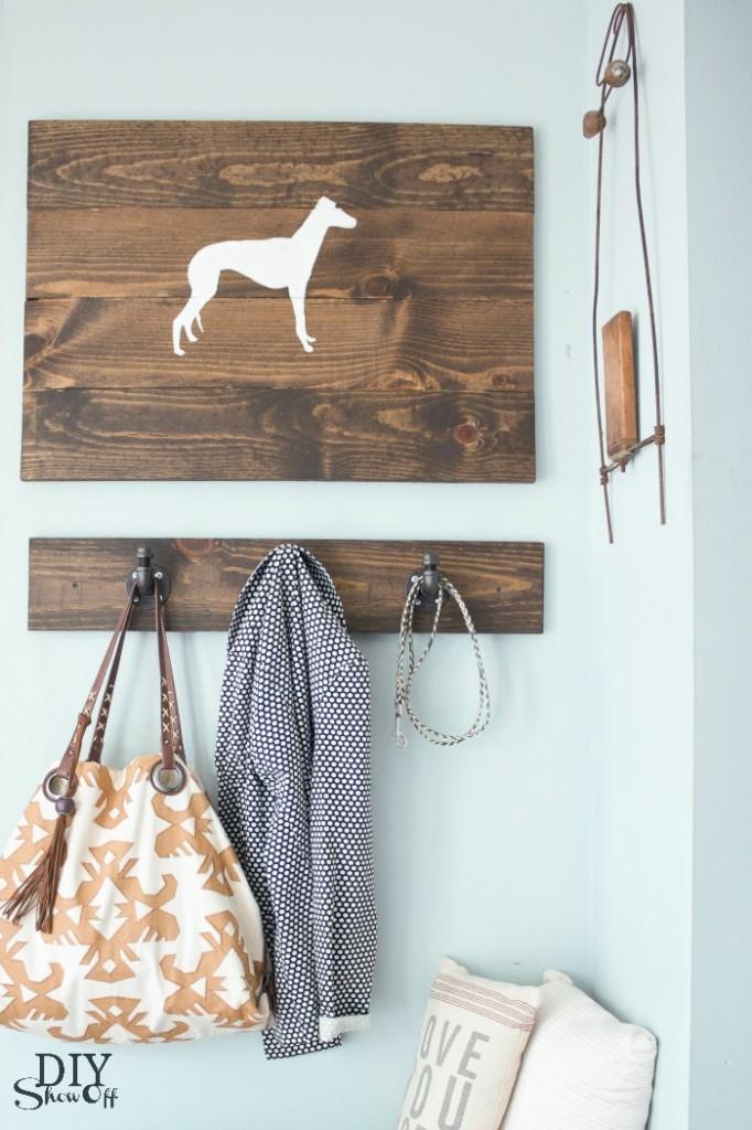Wood Plank Wall Art @diyshowoff